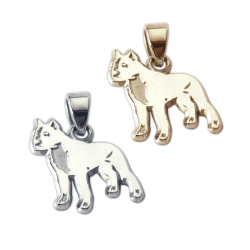 American Staffordshire Terrier Charm or Pendant in Sterling Silver or 14K Gold