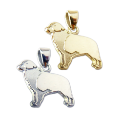 Australian Shepherd Charm or Pendant in Sterling Silver or 14K Gold