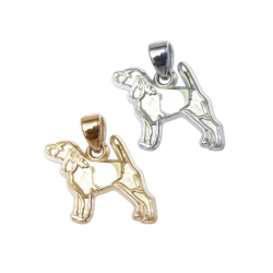 Beagle Charm or Pendant in Sterling Silver or 14K Gold
