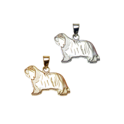 Bearded Collie Charm or Pendant in Sterling Silver or 14K Gold