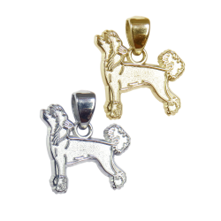 Chinese Crested Charm or Pendant in Sterling Silver or 14K Gold