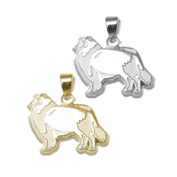 Rough Collie Charm or Pendant in Sterling Silver or 14K Gold