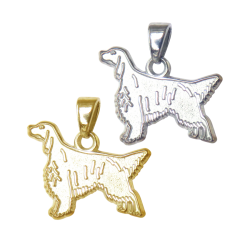 English Setter Charm or Pendant in Sterling Silver or 14K Gold