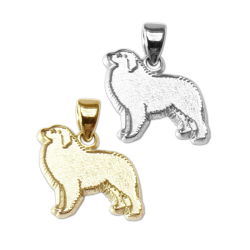 Great Pyrenees Charm or Pendant in Sterling Silver or 14K Gold
