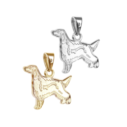 Irish Setter Charm or Pendant in Sterling Silver or 14K Gold