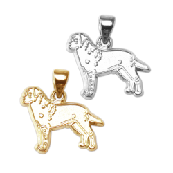 Labrador Retriever Charm or Pendant in Sterling Silver or 14K Gold