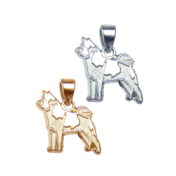 Norwegian Elkhound Charm or Pendant in Sterling Silver or 14K Gold