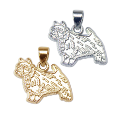 Norwich Terrier Charm or Pendant in Sterling Silver or 14K Gold