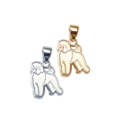 Poodle Charm or Pendant in Sterling Silver or 14K Gold
