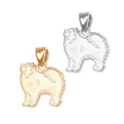 Samoyed Charm or Pendant in Sterling Silver or 14K Gold