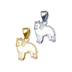 Schipperke Charm or Pendant in Sterling Silver or 14K Gold