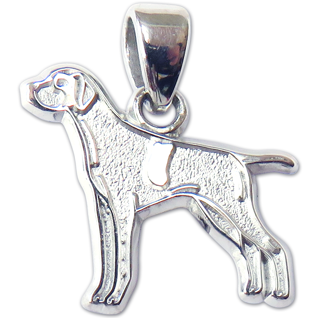 German Wirehaired Pointer Charm or Pendant in Sterling Silver or 14K ...