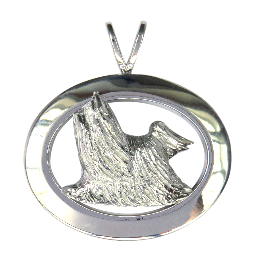 14k Gold Or Sterling Silver Yorkshire Terrier Yorkie In Glossy
