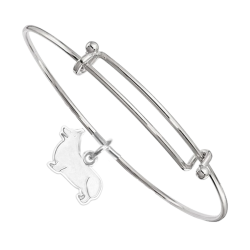 Sterling Silver Pembroke Welsh Corgi Charm on Bangle Bracelet