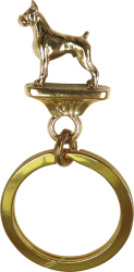 Solid Bronze Boxer Key Ring