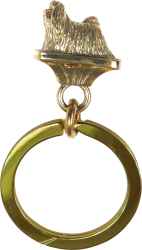 Solid Bronze Maltese Key Ring