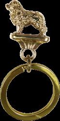 Solid Bronze Newfoundland Key Ring