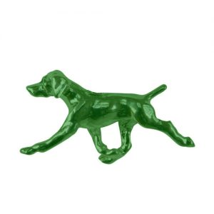 German Shorthaired Pointer in Sterling Silver and 14K Gold