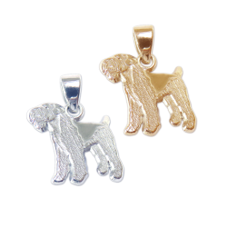 Airedale Terrier Charm or Pendant in Sterling Silver or 14K Gold