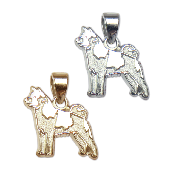 Akita Charm or Pendant in Sterling Silver or 14K Gold