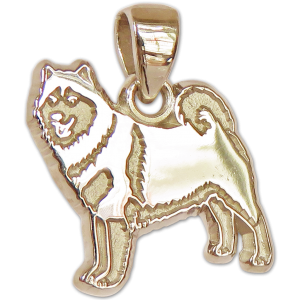 Alaskan Malamute Charm or Pendant in Sterling or 14K Gold
