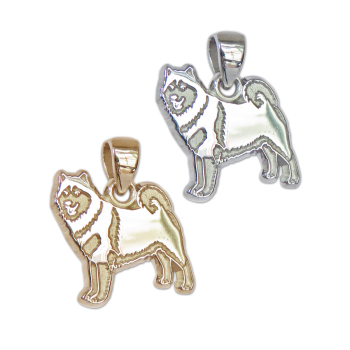 Alaskan Malamute Charm or Pendant in Sterling Silver or 14K Gold