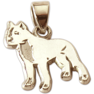 American Staffordshire Terrier Charm or Pendant in Sterling or 14K Gold