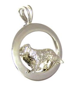 Australian Shepherd Jewelry in Glossy Oval