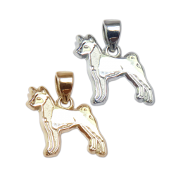 Basenji Charm or Pendant in Sterling Silver or 14K Gold
