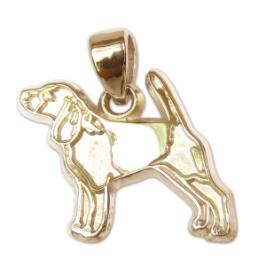 Beagle Charm or Pendant in Sterling or 14K Gold