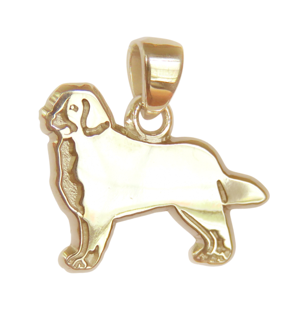 Bernese Mountain Dog Charm or Pendant in Sterling or 14K Gold