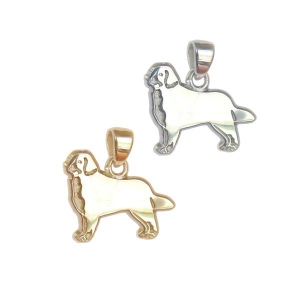 Bernese Mountain Dog Charm or Pendant in Sterling Silver or 14K Gold
