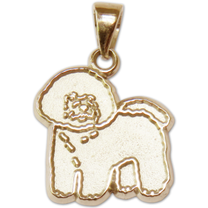 Bichon Frise Charm or Pendant in Sterling or 14K Gold