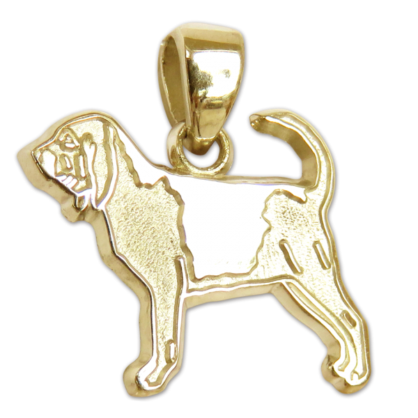 Bloodhound Charm or Pendant in Sterling or 14K Gold