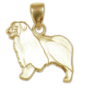 Border Collie Charm or Pendant in Sterling or 14K Gold
