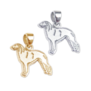 Borzoi Charm or Pendant in Sterling Silver or 14K Gold