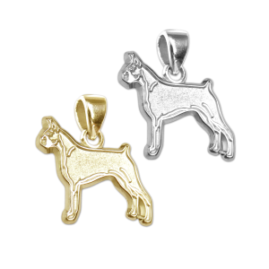 Boxer Charm or Pendant in Sterling Silver or 14K Gold