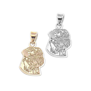 Bullmastiff Charm or Pendant in Sterling Silver or 14K Gold