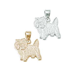 Cairn Terrier Charm or Pendant in Sterling Silver or 14K Gold