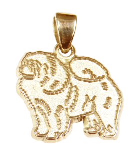 Chow Chow Charm or Pendant in Sterling or 14K Gold