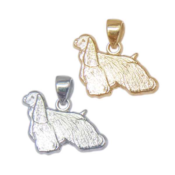 Cocker Spaniel Charm or Pendant in Sterling Silver or 14K Gold