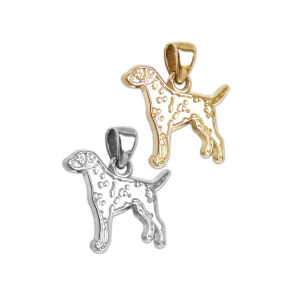 Dalmatian Charm or Pendant in Sterling Silver or 14K Gold
