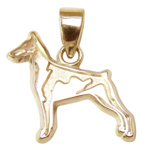 Doberman Pinscher Charm or Pendant in Sterling or 14K Gold
