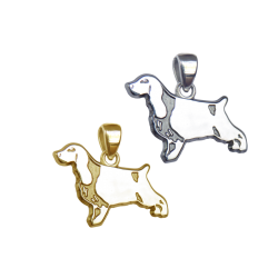 English Cocker Spaniel Charm or Pendant in Sterling Silver or 14K Gold