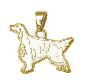 English Setter Charm or Pendant in Sterling or 14K Gold