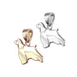 English Springer Spaniel Charm or Pendant in Sterling Silver or 14K Gold