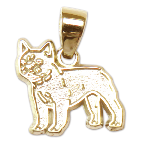 French Bulldog Charm or Pendant in Sterling or 14K Gold