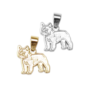 French Bulldog Charm or Pendant in Sterling Silver or 14K Gold