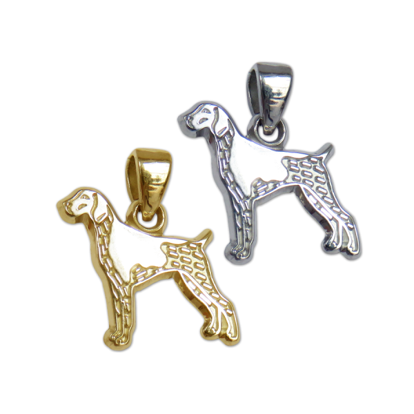German Shorthaired Pointer Charm or Pendant in Sterling Silver or 14K Gold