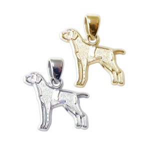 German Wirehaired Pointer Charm or Pendant in Sterling Silver or 14K Gold